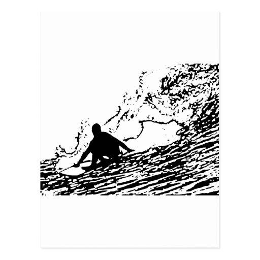 Surfing Surfer Design Retro Style Post Card