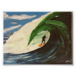 Surfing Surfer The Tube Ride Wave ocean Art Posters