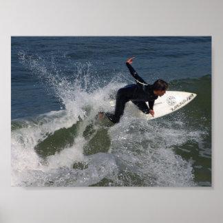 Surfing Surfers Waves Ocean Posters
