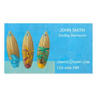 Surfing teacher Surf Instructor freelance Business Card