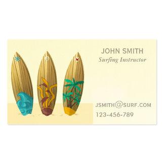 Surfing teacher Surf Instructor freelance Business Cards