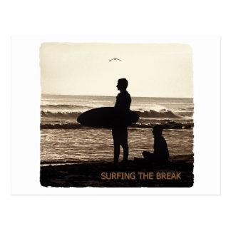 surfing the break postcard