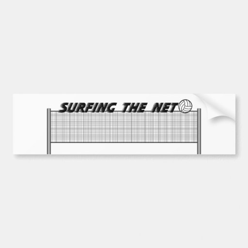 Surfing The Net Bumper Stickers