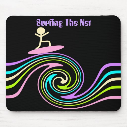 Surfing The Net Mouse Pad