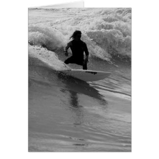 Surfing The Waves Grayscale Card