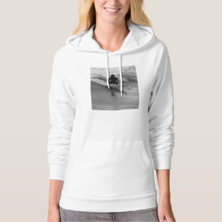 Surfing The Waves Grayscale Hoodie