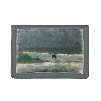 Surfing the Waves Tri-fold Wallets