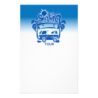 Surfing tour van stationery