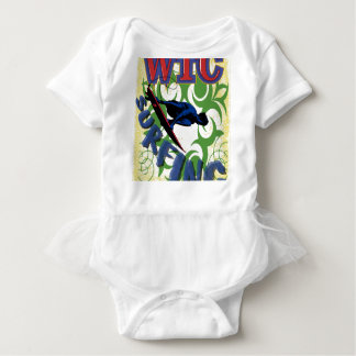 surfing tribal baby bodysuit