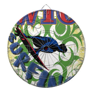 surfing tribal dartboard