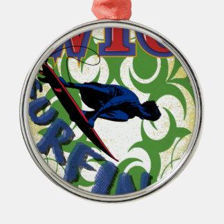surfing tribal metal ornament