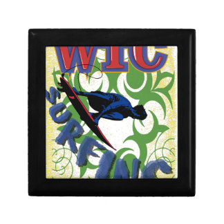 surfing tribal small square gift box