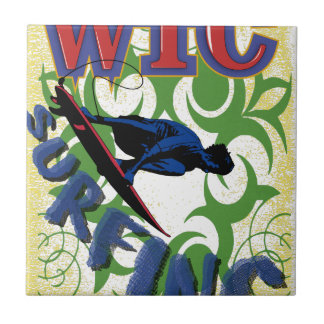 surfing tribal small square tile