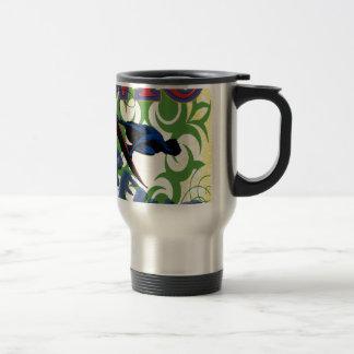 surfing tribal travel mug