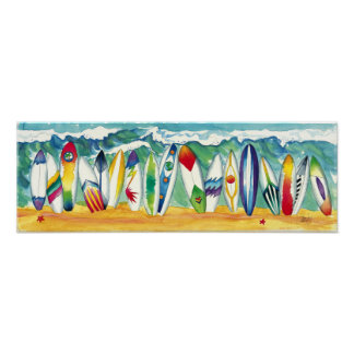 Surfing USA print poster