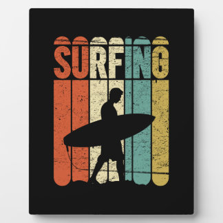 Surfing Vintage Display Plaque