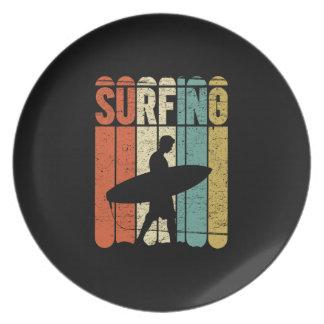 Surfing Vintage Plate