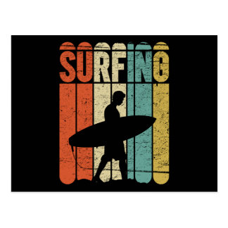 Surfing Vintage Postcard