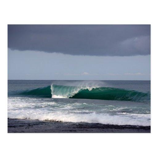 Surfing Wave Reef Break Postcard