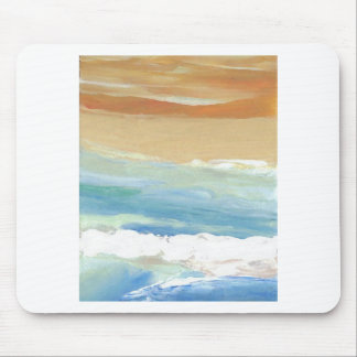 Surfing Waves in Motion Ocean Waves Beach Decor Mouse Pads