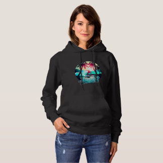 Surfing with palm trees hoodie