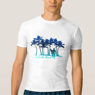 Surfrider Beach Hawaiian Palm Tree Rash Guard T-Shirt