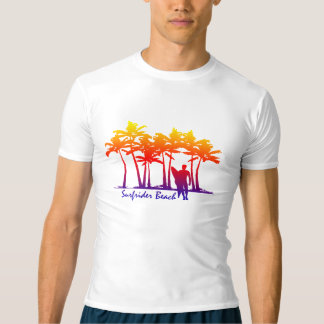 Surfrider Beach Hawaiian Palm Tree Rash Guard T-Shirt