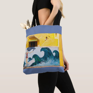 Surf's Up at Mahabalipuram Tote Bag
