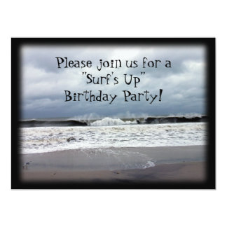"""""""Surf's Up"""" Birthday Party Card"""