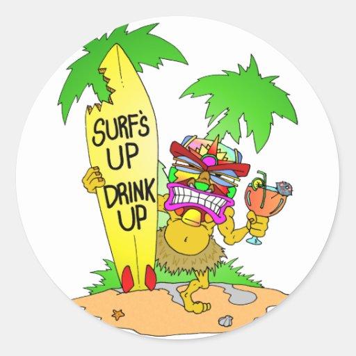 Surfs Up Drink Up Sticker