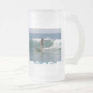 Surf's Up Frosted Glass Mug
