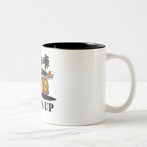 surfs up coffee mugs