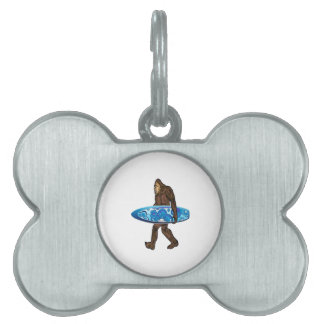 Surfs Up Pet Name Tag