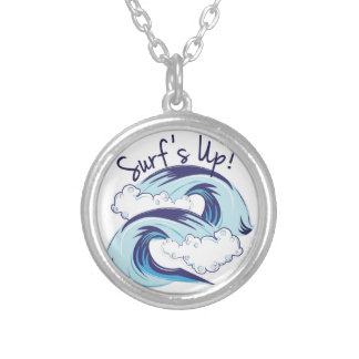 Surfs Up Silver Plated Necklace