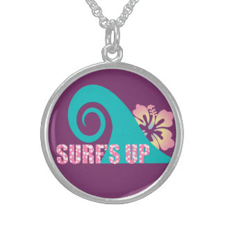 Surf's Up Sterling Silver Round Necklace