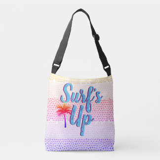 Surf's Up Summer Sunset Palm Tree Crossbody Bag