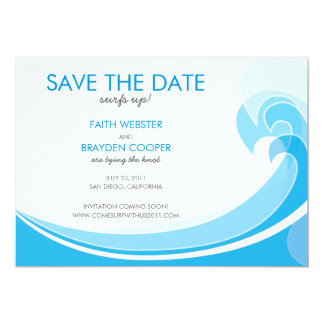Surfs Up! Wedding Save the Date Card