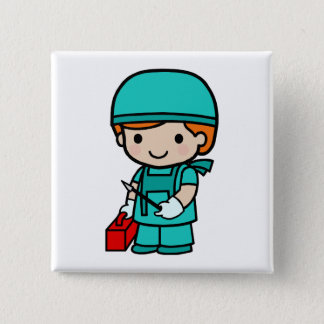 Surgeon Boy 15 Cm Square Badge