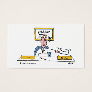 Surgeon Cartoon Business or Appointment Card