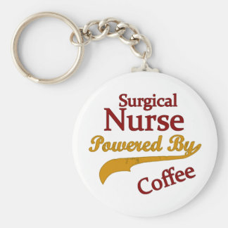 Surgical Nurse Powered By Coffee Key Ring