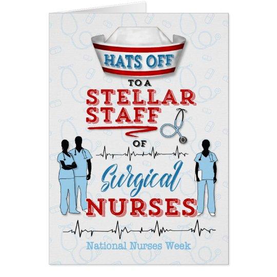 Surgical Nurses on National Nurses Week Card