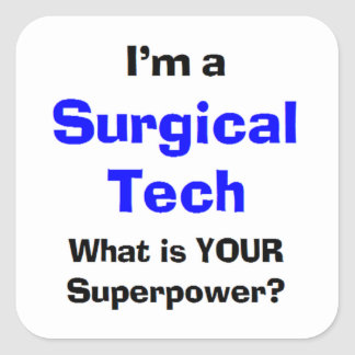 surgical tech square sticker