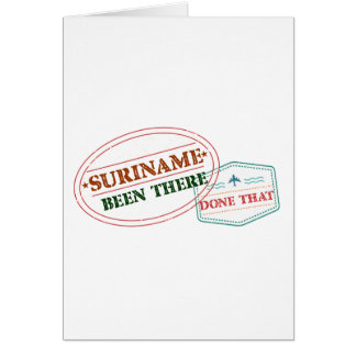 Suriname Been There Done Card