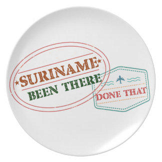 Suriname Been There Done Plate