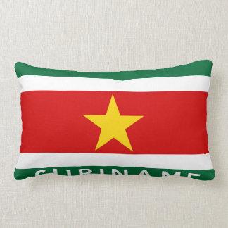 suriname country flag text name throw pillow