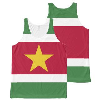 Suriname Flag All-Over Print Singlet