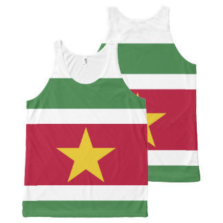 Suriname Flag All-Over Print Singlet