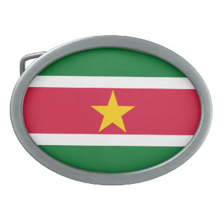 Suriname Flag Belt Buckle