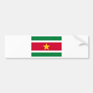 Suriname Flag Bumper Sticker