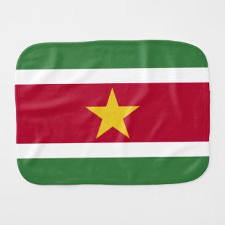 Suriname Flag Burp Cloth